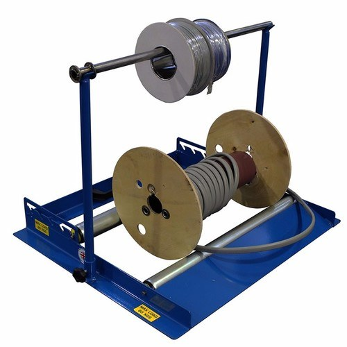 Zexum Heavy Duty Steel 2-In-1 Floor & Stand Cable Reel Spooler  - Click to view a larger image