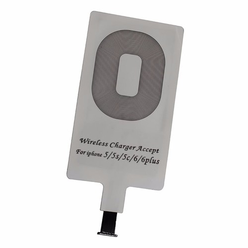 Image of Greenhall Lighting Qi Wireless Charging Adaptor Receiver Pad for iOS & Android Devices - iOS