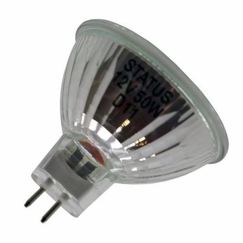 status 50w halogen gu5 3 mr16 spotlight bulb electrical world. Black Bedroom Furniture Sets. Home Design Ideas
