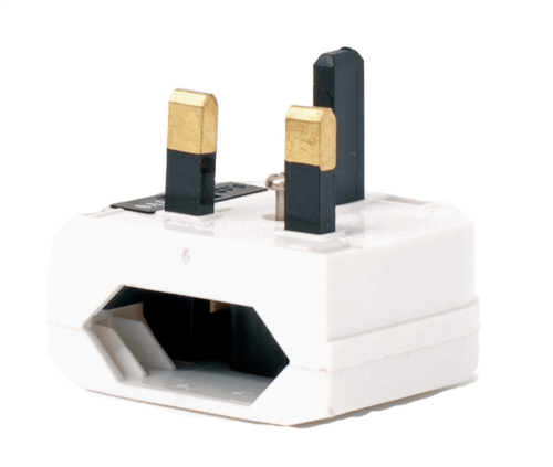 SMJ Pernmanent EU to UK Adaptor Socket Plug  - Click to view a larger image