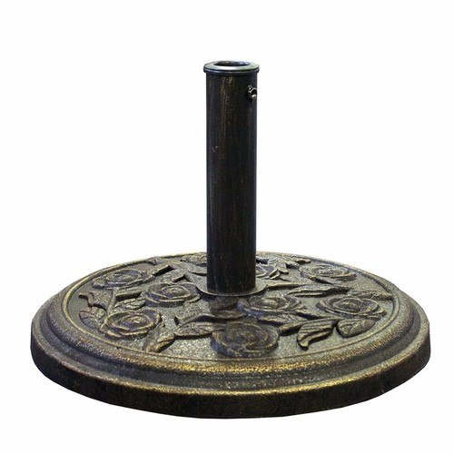 Hadley 38mm-48mm Patio Rose Design Cast Iron Effect Parasol Base  - Click to view a larger image