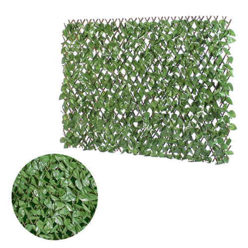GardenKraft Expandable Artificial Light Ivy Willow Fence Panel  - Click to view a larger image