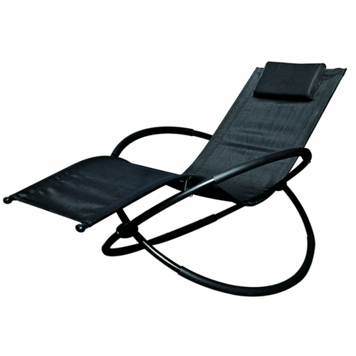 GardenKraft Louis Textilene Zero Gravity Rocking Lounger  - Click to view a larger image