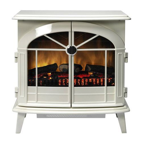 Dimplex Chevalier Freestanding Electric Stove - White Chevalier White Electric Stove with Optiflame - Click to view a larger image
