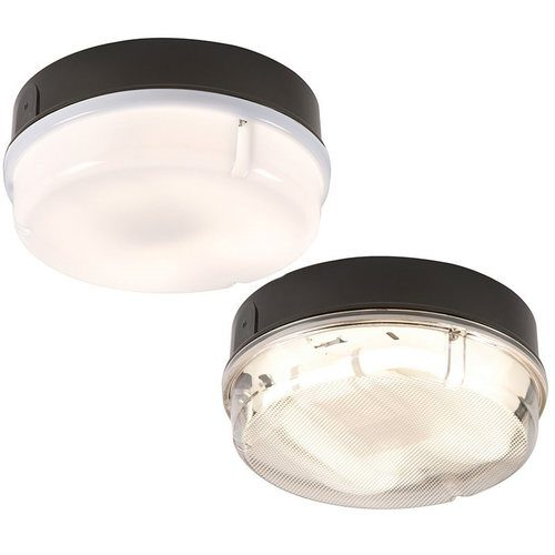 KnightsBridge 28W IP65 Round Bulkhead With Black Base 28W IP65 Round Bulkhead With Black Base - Click to view a larger image