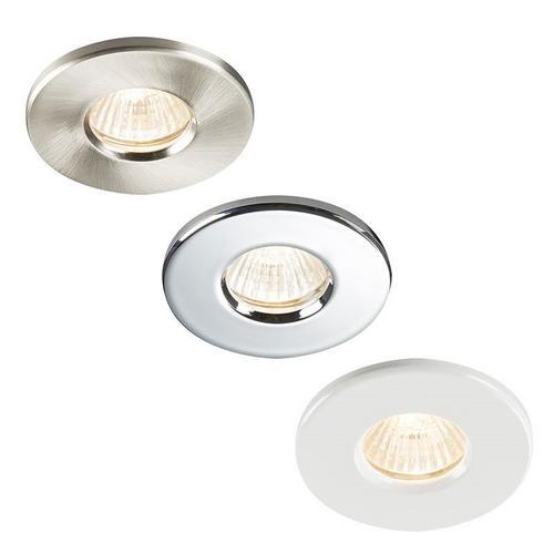 Polished Brass Outdoor Soffit LED GU10 Recessed Downlight Spotlight IP65 Light