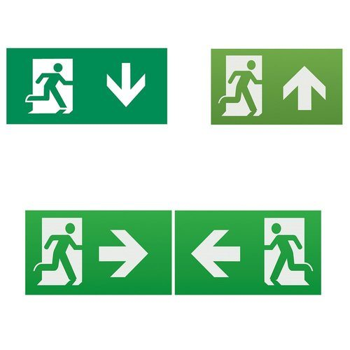KnightsBridge Emergency Lighting Legend Set (Pack of 2) KnightsBridge Emergency Lighting Legend Set Pack of 2 - Click to view a larger image