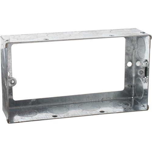 KnightsBridge 2G 35mm Galvanised Steel Extension Back Box KnightsBridge 2G 35mm Galvanised Steel Extension Back Box - Click to view a larger image