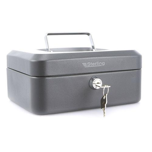 "Sterling 8"" Key Cash Box - Black Sterling BLACK KEY Cash Box - Click to view a larger image"