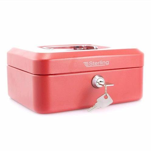 "Sterling 8"" Key Cash Box - RED Sterling 8 Key Cash Box - RED - Click to view a larger image"