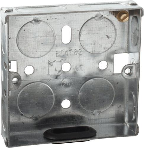 Appleby 1G 16mm Galvanised Steel Back Box