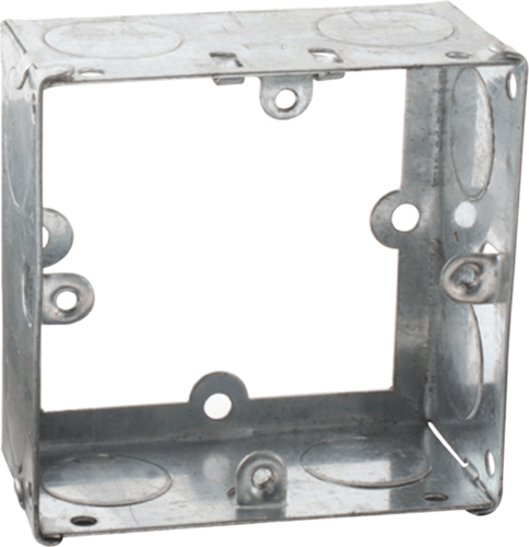 Zexum 1G 35mm Galvanised Extension Back Box Zexum 1G 35mm Galvanised Extension Back Box - Click to view a larger image