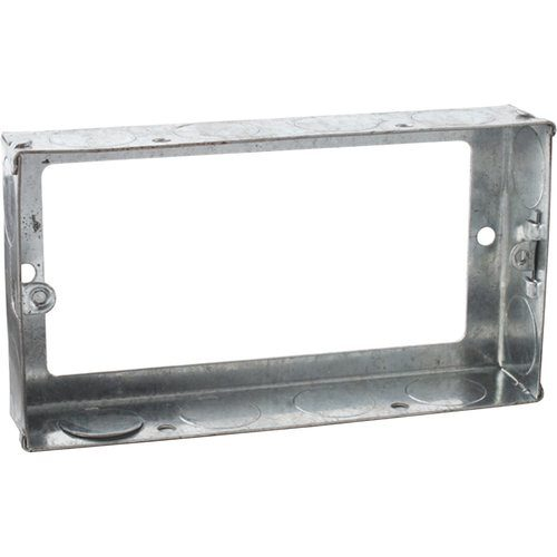 Zexum 2G 25mm Galvanised Steel Extension Back Box Zexum 2G 25mm Galvanised Steel Extension Back Box - Click to view a larger image