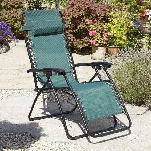 Zexum Textoline Reclining Chair - Green Zexum Textoline Reclining Chair - Green - Click to view a larger image