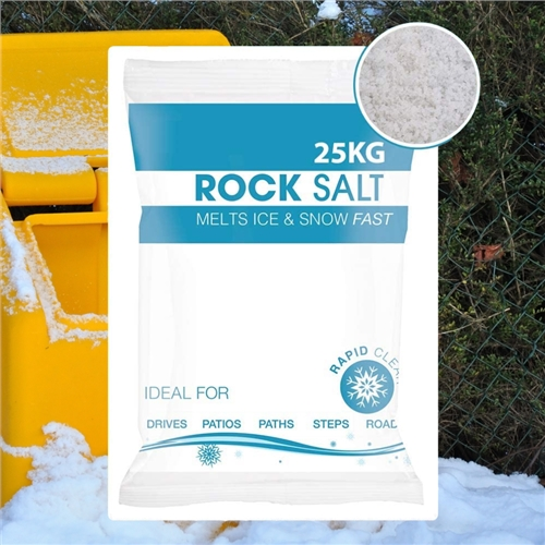 Hadley White De-Icing Rock Salt Hadley White De-Icing Rock Salt bagged - Click to view a larger image