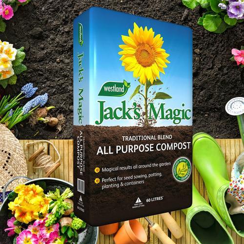 Westland Jack Magic All Purpose Compost - 60 Litre Bag Westland Jack Magic All Purpose Compost - 60 Litre Bag