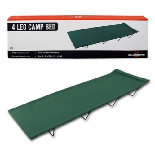 Milestone 4 Leg Folding Camp Bed Milestone 4 Leg Folding Camp Bed - Click to view a larger image
