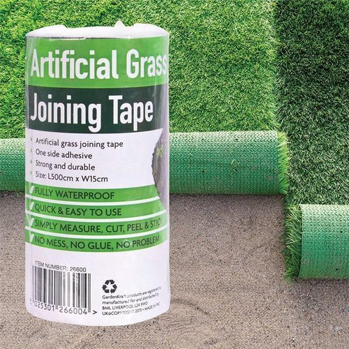 GardenKraft 5m x 15cm Artificial Grass Joint Tape - Green GardenKraft 5m x 15cm Artificial Grass Joint Tape - Green - Click to view a larger image