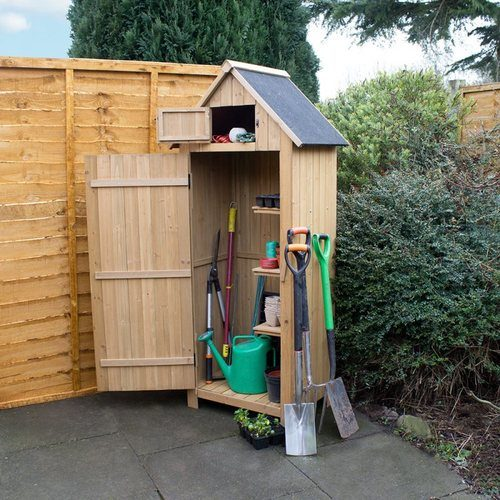 Kingfisher Wooden Garden Shed Kingfisher Wooden Garden Shed - In Use - Click to view a larger image