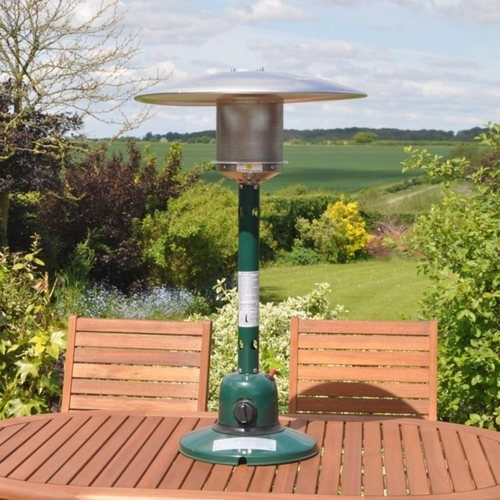 Kingfisher Outdoor Table Top Patio Heater Kingfisher Outdoor Table Top Patio Heater - Being Used