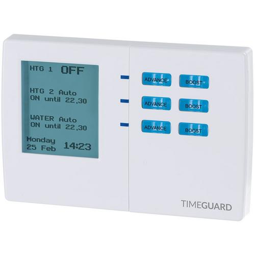Timeguard 7 Day Digital Heating Programmer - 3 Channel Timeguard 7 Day Digital Heating Programmer - 3 Channel - Click to view a larger image
