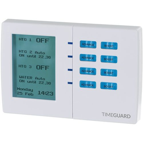 Timeguard 7 Day Digital Heating Programmer - 4 Channel Timeguard 7 Day Digital Heating Programmer - 4 Channel - Click to view a larger image