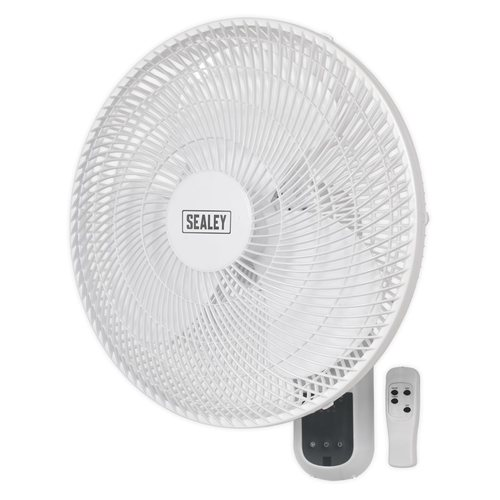 "Sealey 16"" 3 Speed Wall Fan with Remote Control  - Click to view a larger image"