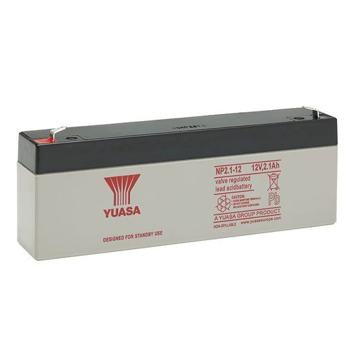 Yuasa 12V 2.1Ah Sealed Lead Acid Battery Yuasa NP2.1-12 12V 2.1Ah Sealed Lead Acid Battery - Click to view a larger image
