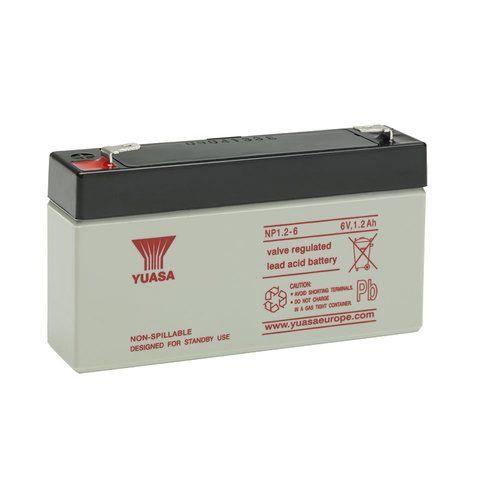 Yuasa 6V 1.2Ah Sealed Lead Acid Battery Yuasa NP1.2-6 6V 1.2Ah Sealed Lead Acid Battery - Click to view a larger image