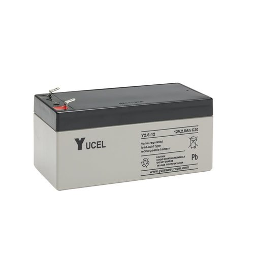 Yucel 12V 2.8Ah Sealed Lead Acid Battery Yucel Y2.8-12 12V 2.8Ah Sealed Lead Acid Battery - Click to view a larger image