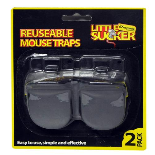 Kingfisher Reusable Plastic Mouse Traps (2 Pack) Kingfisher Reusable Plastic Mouse Traps 2 Pack - Click to view a larger image