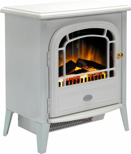 Dimplex Chourchevel Optiflame Electric Stove - Matt White Dimplex Chourchevel Optiflame Electric Stove in White - Click to view a larger image