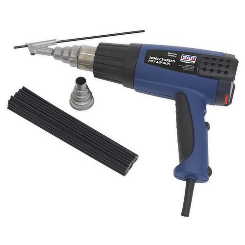 Sealey Plastic Welding Kit with Hot Air Gun Sealey Plastic Welding Kit with Hot Air Gun - Click to view a larger image