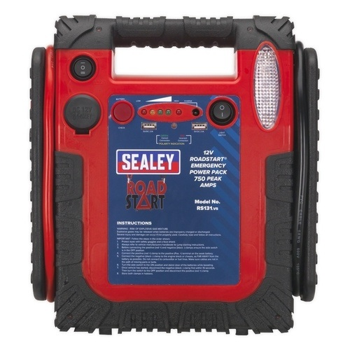 Sealey 12V Roadstart Emergency Jump Starter 750A Peak Sealey 12V Roadstart Emergency Jump Starter 750A Peak - Click to view a larger image