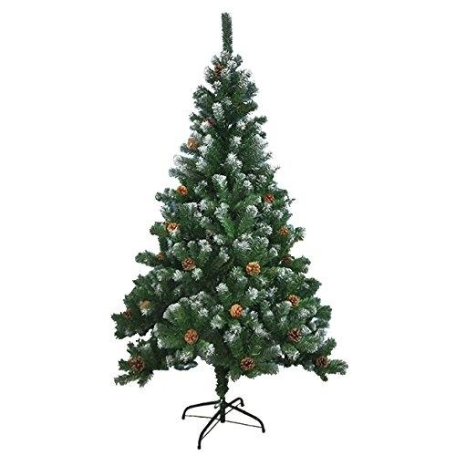 Benross Artificial Green Christmas Tree with Snow Tips & Cones Benross Artificial Green Christmas Tree with Snow Tips  Cones - Click to view a larger image
