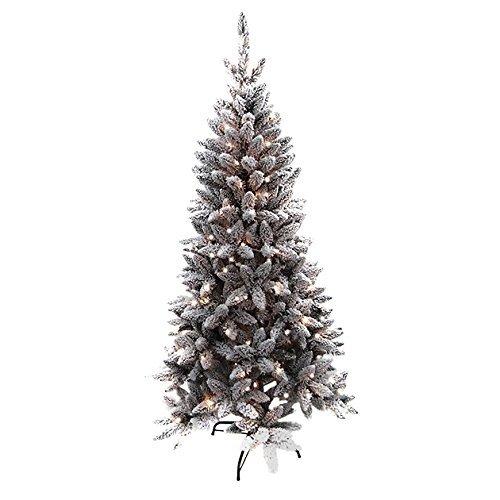 Benross Pre-Lit LED Flock Pine tree Benross Pre-Lit LED Flock Pine tree - Click to view a larger image