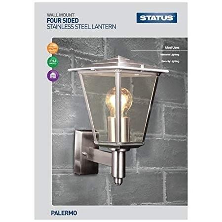 Status Palero Four Sided Plastic Lantern - Silver Status Palero Four Sided Plastic Lantern - Silver
