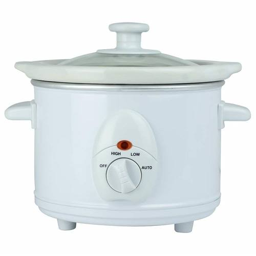 Status 1.5 Litre Round Slow Cooker - White  - Click to view a larger image