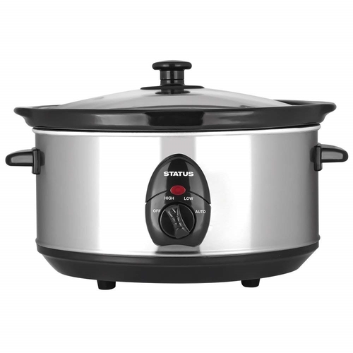 Status 3.5 Litre Oval Slow Cooker - Silver Status 3.5 Litre Oval Slow Cooker - Silver - Click to view a larger image