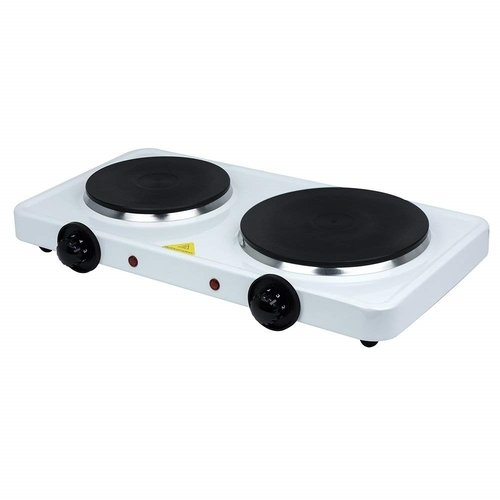 Status Double Stainless Steel Hot Plate - White Status Double Stainless Steel Hot Plate - White - Click to view a larger image