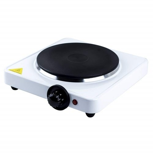 Status Single Stainless Steel Hot Plate - White Status Single Stainless Steel Hot Plate - White - Click to view a larger image