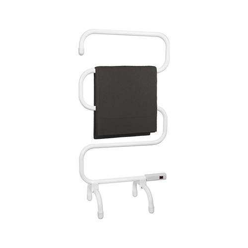 Status Portable Aluminium 5 Bar Heated Towel Rail - White Status Portable Aluminium 5 Bar Heated Towel Rail - White - Click to view a larger image