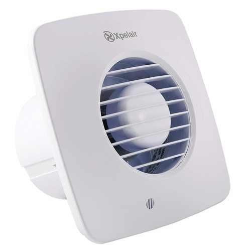 Xpelair 4 Inch 100mm Simply Silent Square Bathroom Fan