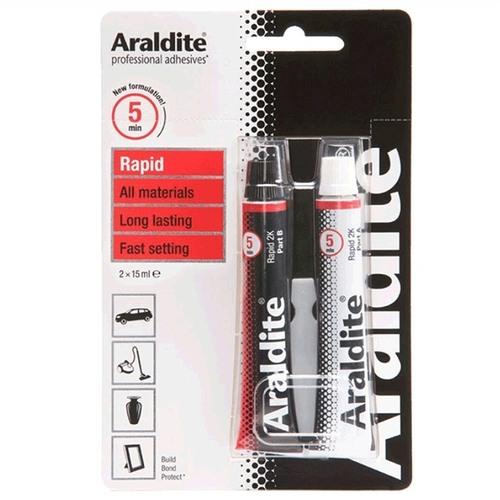 Araldite Rapid 2-Part Epoxy Adhesive Glue 2 x 15ml