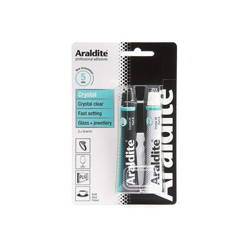 Araldite Crystal Epoxy Adhesive Tubes 15ml X 2