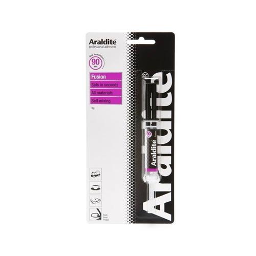 Araldite Fusion Epoxy Adhesive Glue 3g Syringe