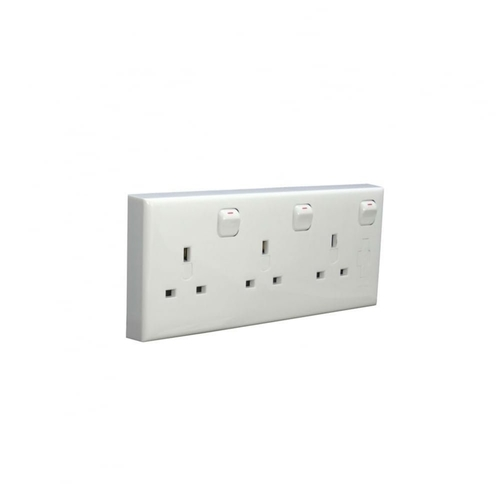 Robus Single/Double to 3 Gang Socket Converter  - Click to view a larger image