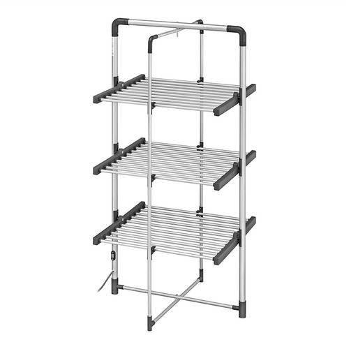 Black + Decker Foldable Electric Clothes Airer, 100 Watt, 6 Bar  - Click to view a larger image