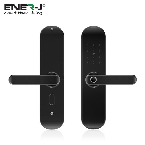 Ener-J WiFi Smart Door Lock Right Handle (Black, silver)  - Click to view a larger image