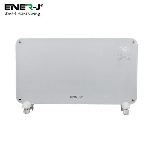Ener-J WiFi Smart Heater 2000W, White Tempered Glass Portable - Click to view a larger image